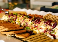 Cranberry and Pistachio from Bronte Studded Cheese Log