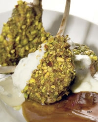 Pistachio from Bronte Mint Crusted Rack of Lamb