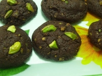 Cookies de chocolate y pistachos