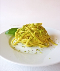 Spaghetti With Pistachio from Bronte Pesto And Mint Ricotta
