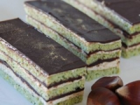 Pistachio chestnut chocolate cake