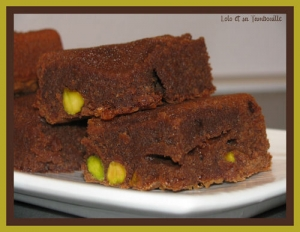 Brownie aux pistaches