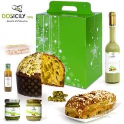 """Cadeau Natalizio""""GOLD""""prodotti tipici artigianali al pistacchio"""
