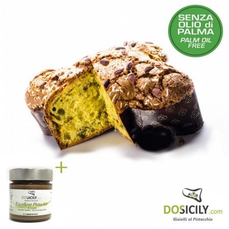 Colomba artigianale glassata pistacchio 750 g con crema eccellente 190 g