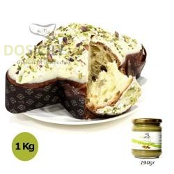 Colomba al pistacchio dolce 1 kg con crema spalmabile