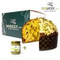 """Panettone "" with pistachios 1kg + sweet cream 190gr"