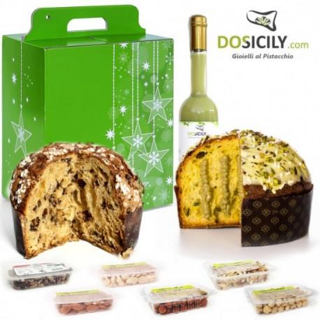 """Cadeau Natalizio""""Premium""""confezione prodotti tipici artigianali al pistacchio"""